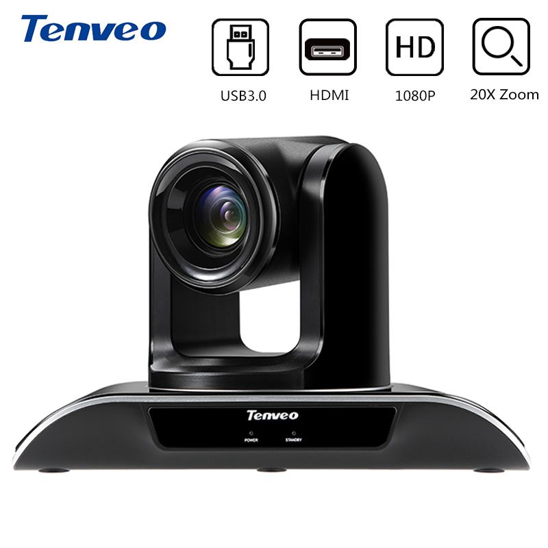 Tenveo VHD203U 1080p HD 20X Zoom CCTV Camera PTZ Video Conference Camera USB 3.0 HDMI Output Surveillance for YouTube Facebook