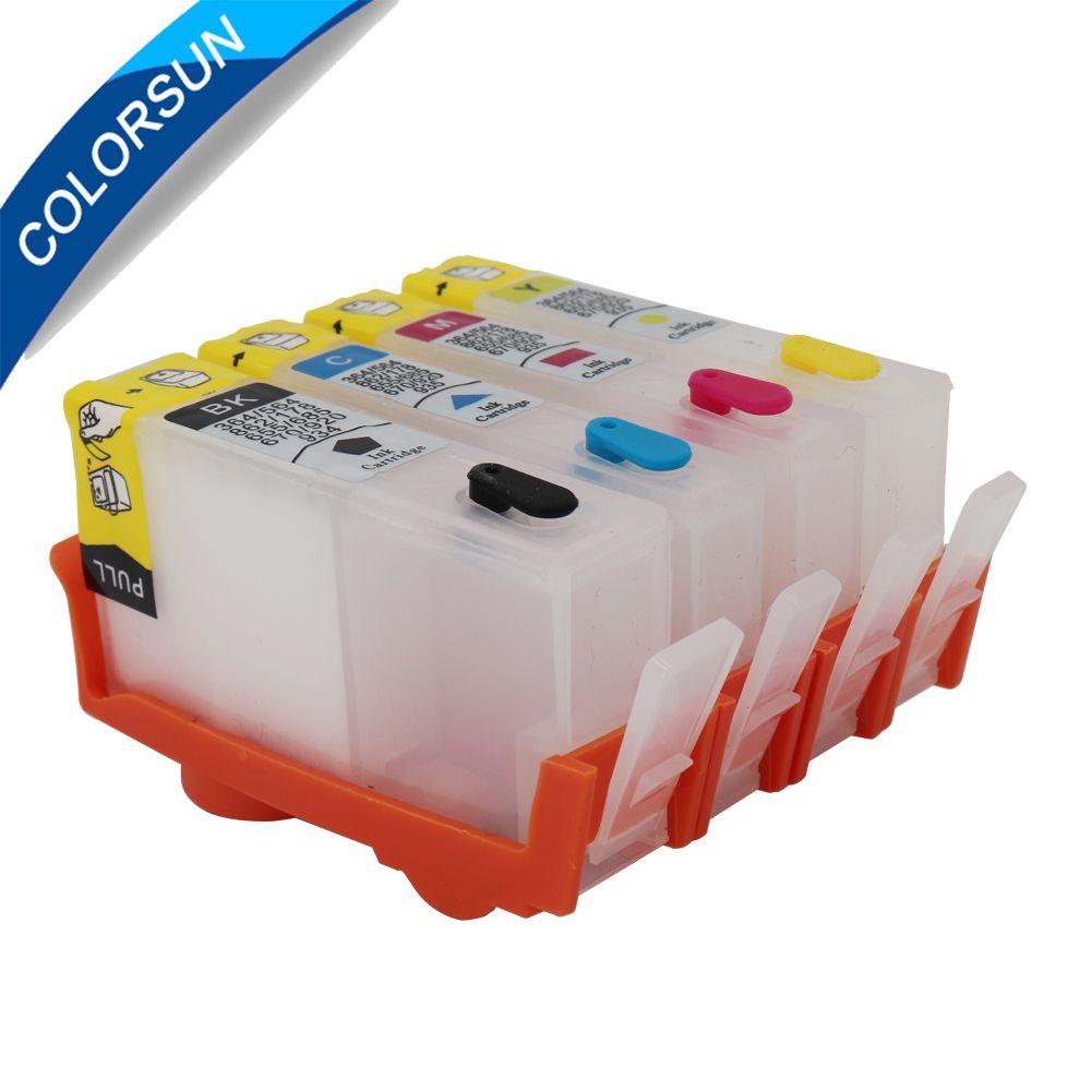 Pour HP 655 Cartouches D'encre pour HP Deskjet 3525 4615 4625 5525 6525 cartouche Rechargeable pour HP655 avec ARC puces