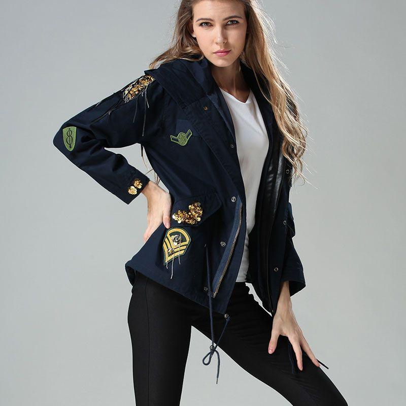 European medieval style long sleeve dark blue badges vintage jacket