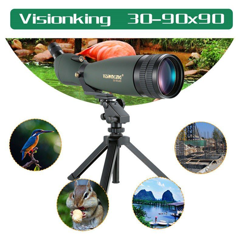 Visionking 30-90x90 Zoom Spotting Scope Waterproof For Huting Bird Watching Zoom Free shipping