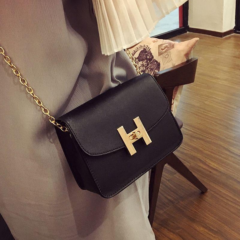 Free shipping, 2017 new trend women handbags, fashion simple flap, retro Korean version shoulder bag, chain woman messenger bag.