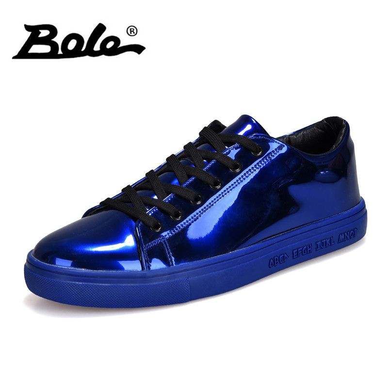 BOLE Men Sequined Cloth Casual Shoes Waterproof Rubber Sole Non-slip Casual Sneakers for Men Fashion Shoes Gold Sliver 4colors