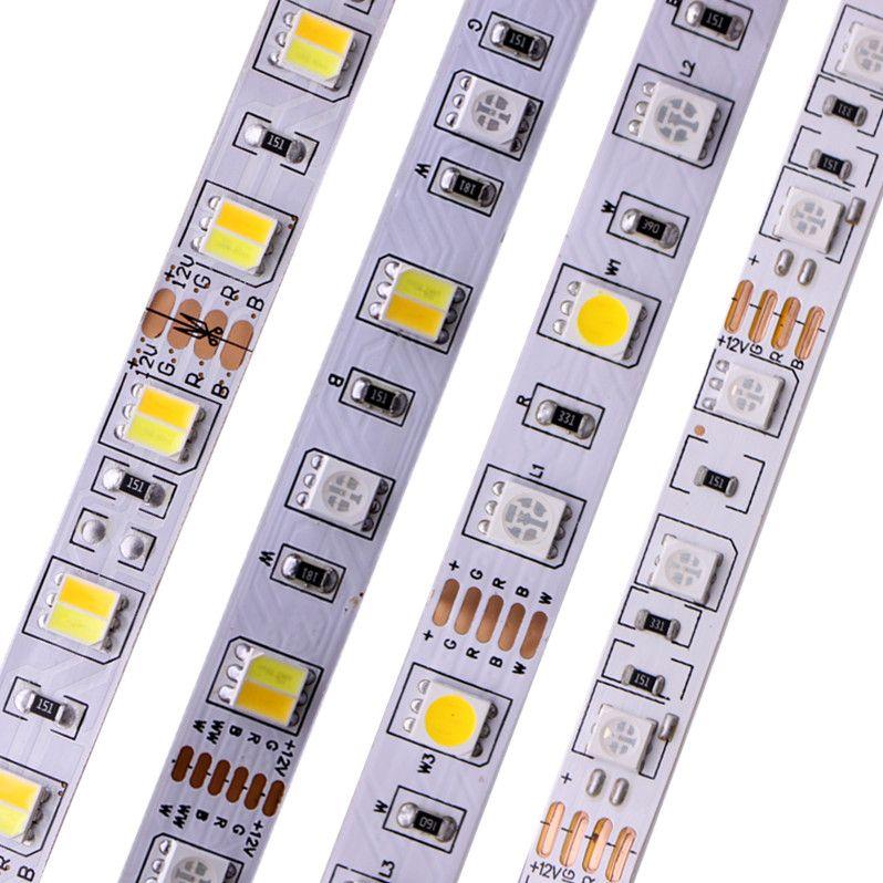 5 M 5050 bande LED smd RGB RGBW (RGB + blanc) RGBWW (RGB + blanc chaud) RGBCCT Flexible LED lumière de chaîne 5 M/300 LED s 12 V 24 V maison