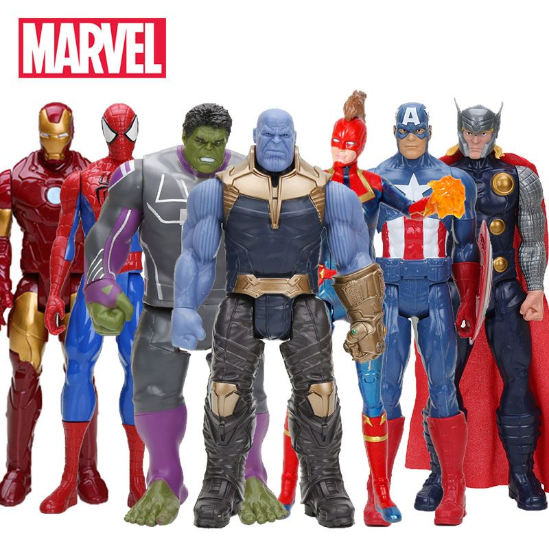 Hasbro Marvel Toys The Avenger Endgame 30CM Super Hero Thor Captain Thanos Wolverine Spider Man Iron Man Action Figure Toy Dolls