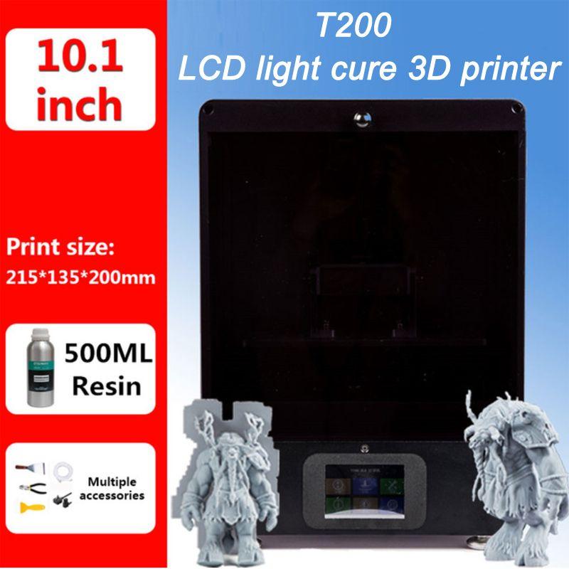 T200 LCD/SLA/DLP 3D Drucker 215*135*200mm druck volumen hohe präzision 2K diy Impresora 405nm UV Harz