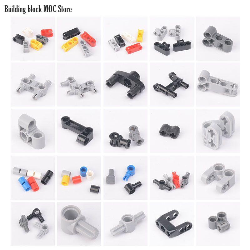 28 technic connectors parts EV3 EV5 Kids Education Building Block MOC legoINGlys 9686/9898/6536/42003/32184/48989/55615/15100