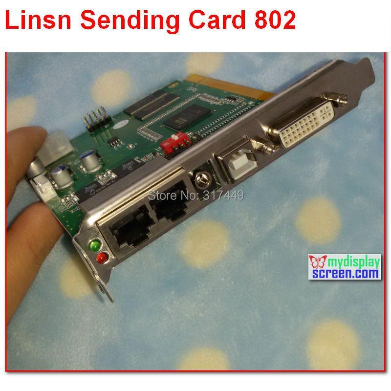 Linsn TS/sd801/802 полный Clolor RGB 1024*640/1280*512 пикселей DVI/rj45 порт синхронизации светодиодный дисплей TS801D синхронных отправки карты