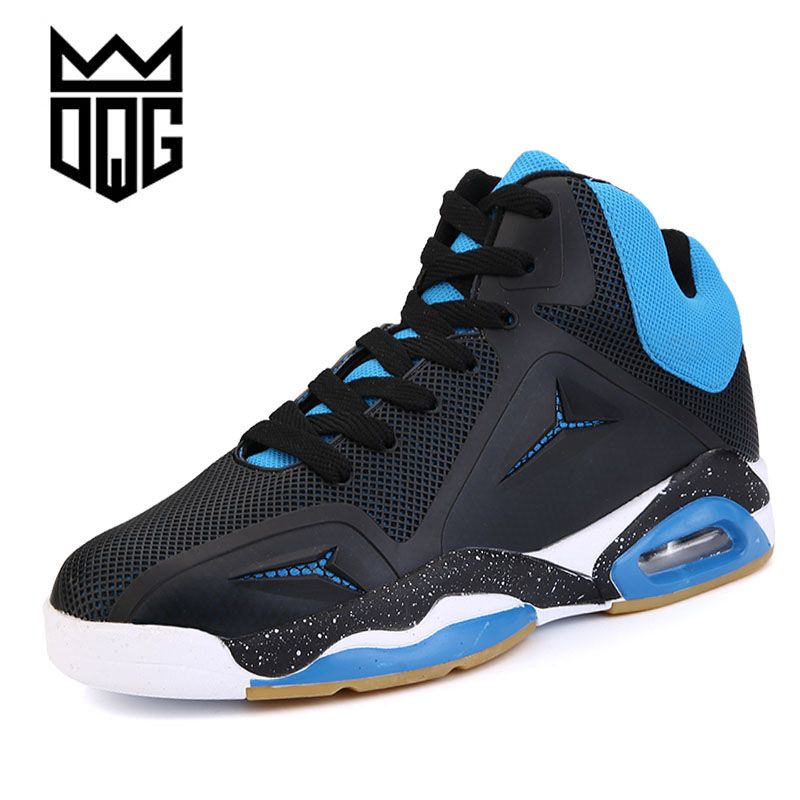 DQG New brand men basketball shoes Breathable lace-up Athletic shoes cheap zapatos hombre autumn black outdoor men ankle shoes