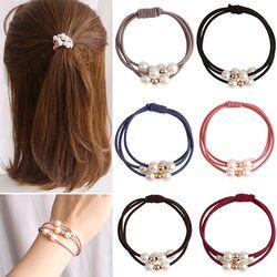 Mode 1 PC Fondamentalement Simple multi-couche imitation perle corde de cheveux Élégant haute élasticité Braider