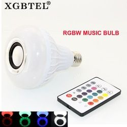 Nirkabel Bluetooth 12 W LED Speaker Bulb Audio Speaker E27 Warna-warni Bermain Musik dan dengan 24 Kunci IR Remote kontrol