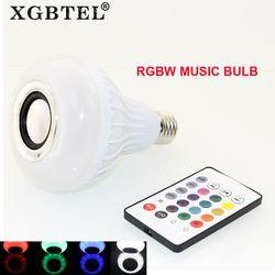 Wireless bluetooth 12 W DIPIMPIN speaker bola Audio Speaker E27 Colorful musik bermain & Pencahayaan Dengan 24 Keys IR remote Control