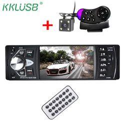 Radio de coche 1 din 4022d Radio de coche Auto Audio estéreo FM Bluetooth 2,0 cámara de visión trasera usb aux volante control remoto