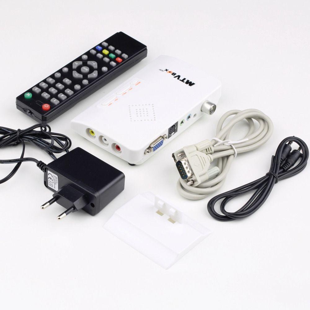 1set Digital TV Box LCD/CRT VGA/AV Stick Tuner Box View Receiver Converter Hot Worldwide Drop Shipping