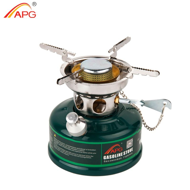 APG Camping Gasoline Stove Non Preheating Sound Proof Oil Stove Burners Outdoor Cookware