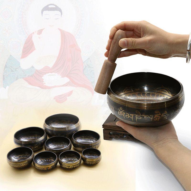 Bol népal bol chantant manuel taraudage métal artisanat bouddha bol religieux faïence bassin tibétain méditation chantant bol