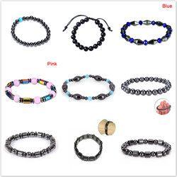 10 Style De Mode Poids Perte Rond Noir Pierre Thérapie Magnétique Bracelet Soins de Santé De Luxe Minceur Produit