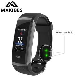 New Makibes HR3 Bluetooth 4.0 Wristband Men Women Color Screen Bracelet Continuous Heart Rate Monitor Health Fitness Smart Band