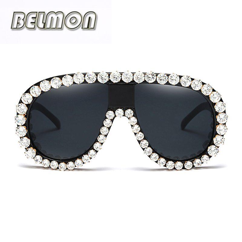 Fashion Luxury Sunglasses Men Women Brand Designer Sun Glasses For Ladies Oversized Mirror Lens Male Female Oculos de sol RS244