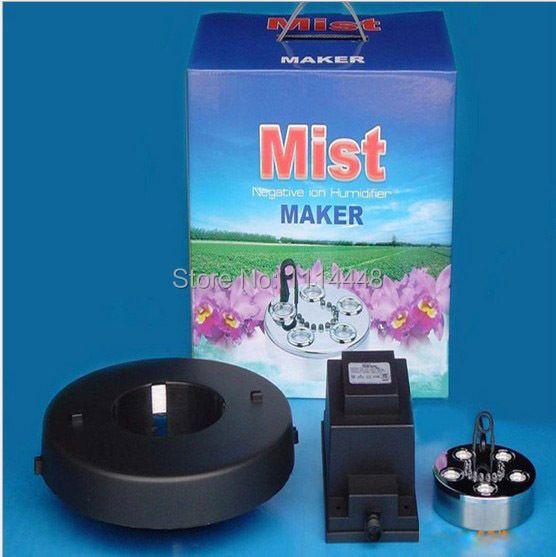 Marke neue ultraschall-nebel-hersteller fogger 5 kopf luftbefeuchter + transformator 1500 ml/h mit farbe licht