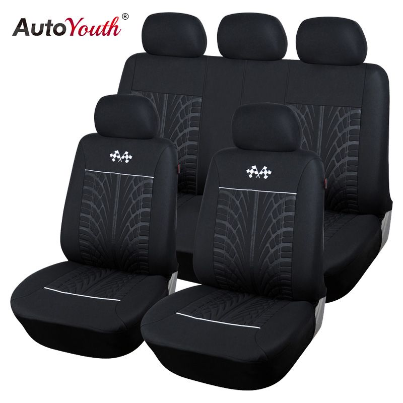 AUTOYOUTH Sports Car Seat Covers Universal Fit Most Brand Vehicle Seats Car Seat Protector Interior Accessories Black Seat Cover