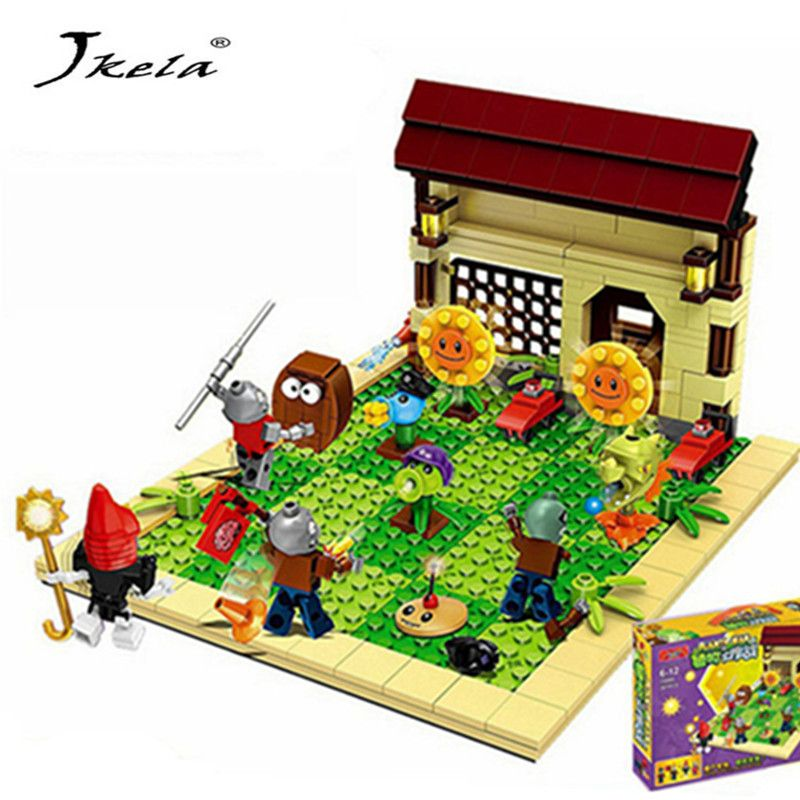 387 pièces nouvelles idées plantes vs zombies frappé jeu blocs de construction set jouets compatibles bloc jouets cadeau pour enfants action