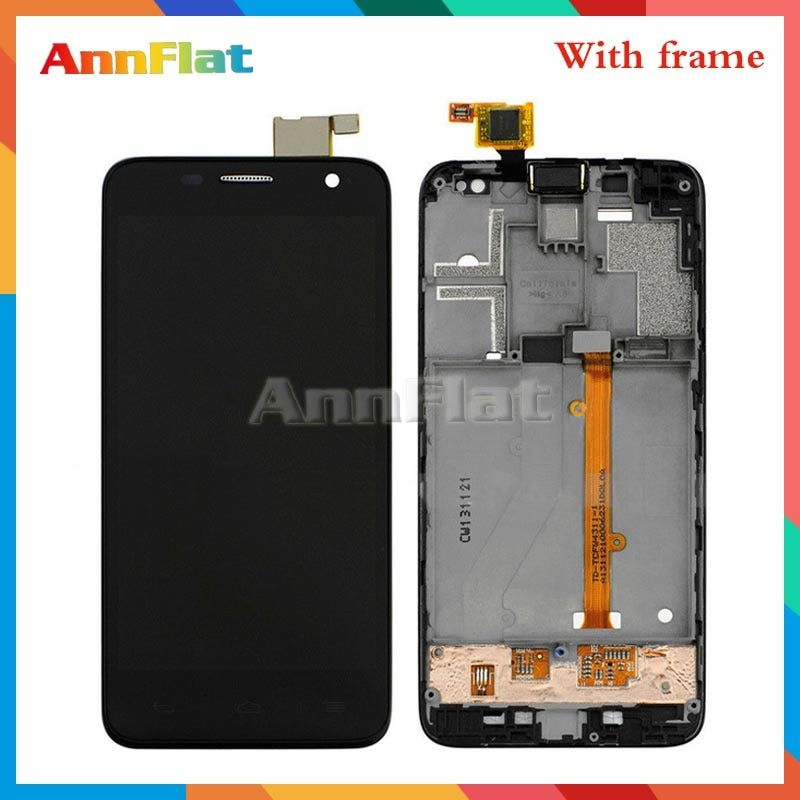 For Alcatel One Touch Idol Mini 6012 OT6012 6012D LCD Display Screen With Touch Screen Digitizer Assembly with frame