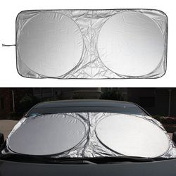 VODOOL 150X70cm Car Sunshade Sun Shade Windshield Visor Cover Front Rear Window UV Protection Shield Film Reflective Car Styling