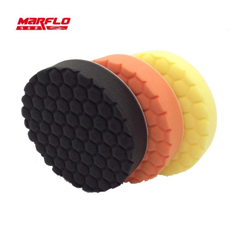 Tampon d'éponge de polissage de soin de peinture de voiture enlève modéré pour les polisseuses rotatives et DA utilisent du MARFLO de haute qualité par brillatech