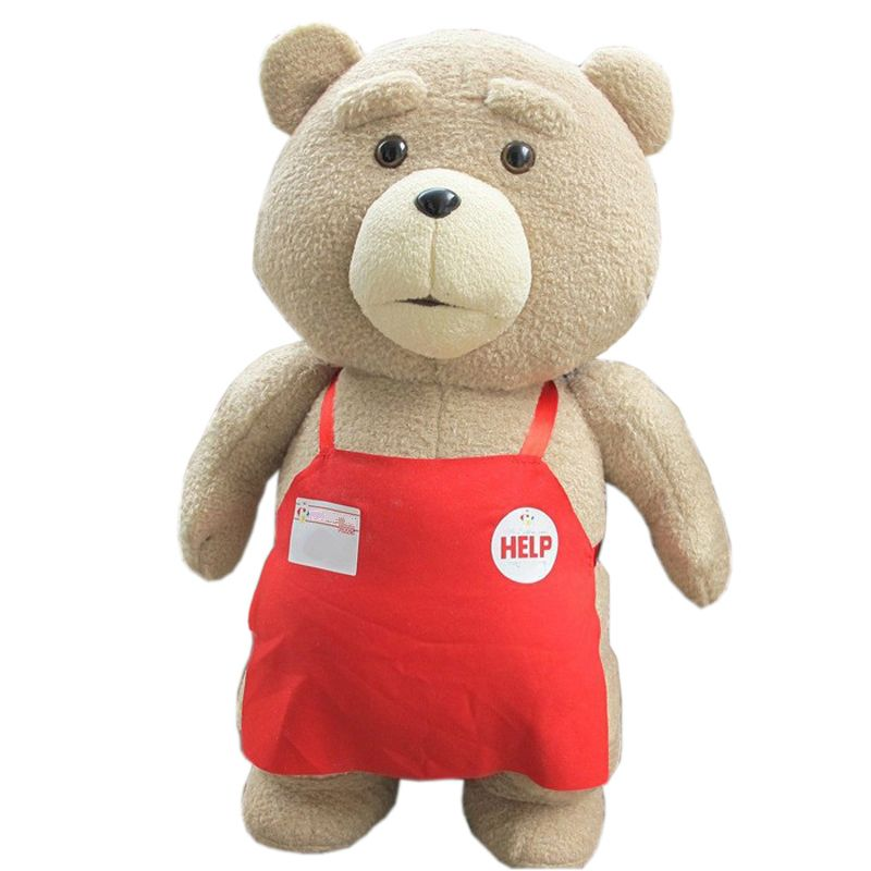 Big Size 46 cm Original Teddy Bear Stuffed Plush Animals Ted 2 Plush Soft Doll Baby <font><b>Birthday</b></font> Gift Kids Toys