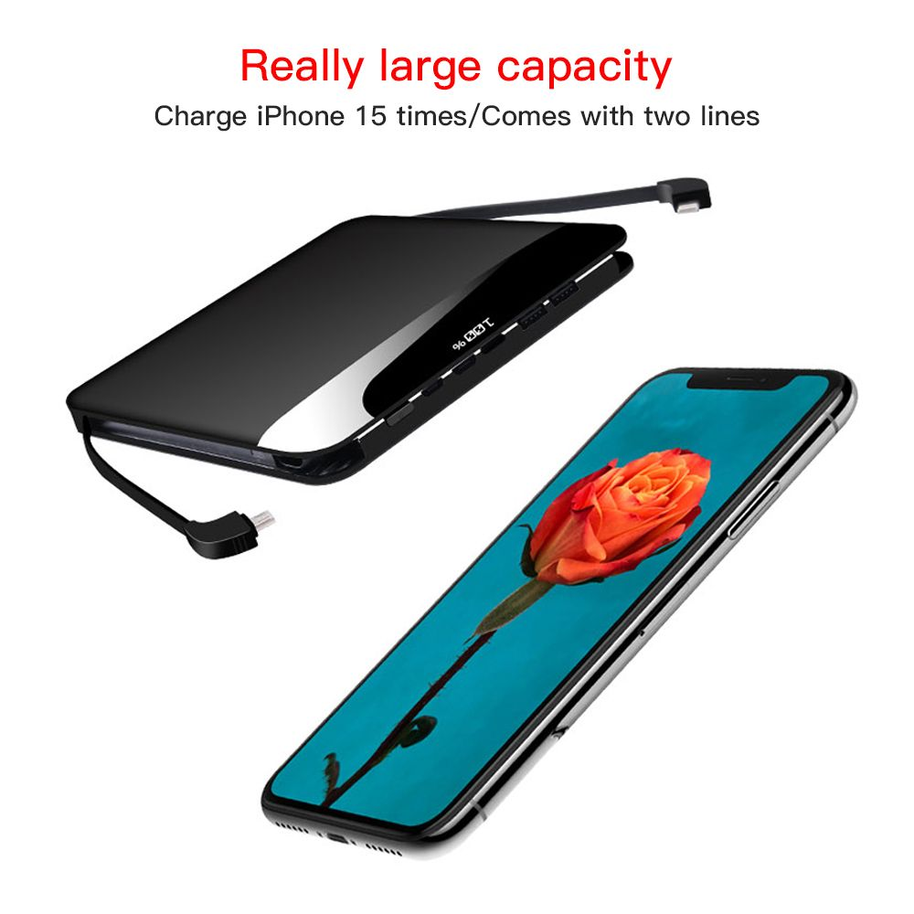 Fast charge Type c 20000 mAh PowerBank Dual USB External Battery Charger Portable Power Bank LCD Display For Iphone and Android
