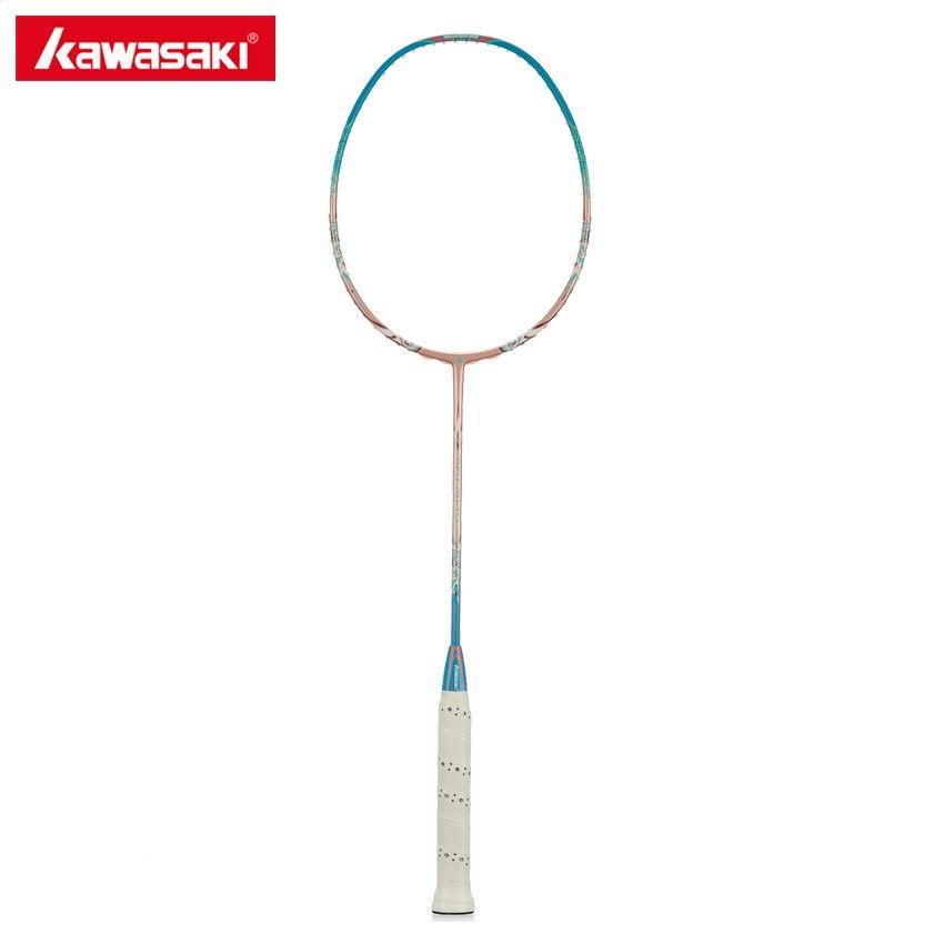 2017 Kawasaki Porzellan 7500 Badminton Schläger Hallo-modul Graphit Super Licht Professionelle Aerofoil Rahmen Raquette Frauen Schläger