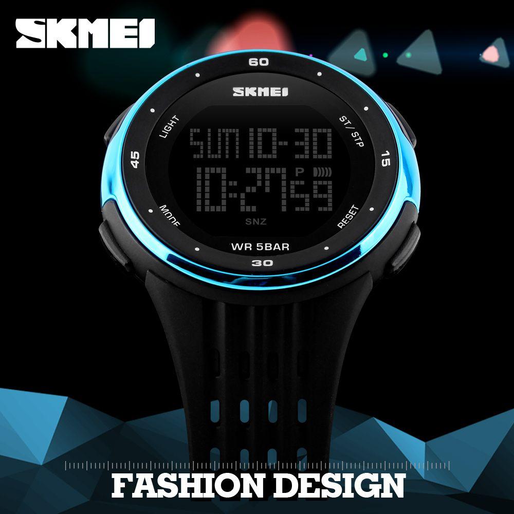 SKMEI Men Outdoor Sports Watches Waterproof Digital LED Military Watch Men Brand Fashion Casual Electronics Luxury Wrist Watches