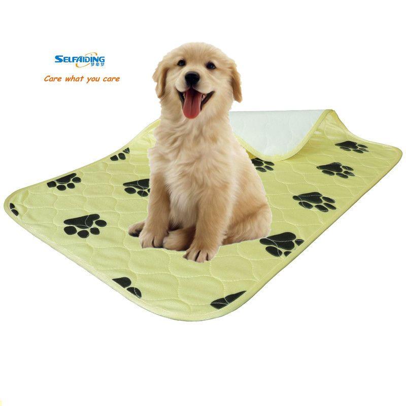Многоразовые собака коврики Моча Pad моющийся щенка подготовки, Водонепроницаемый щенок underpad желтые колодки