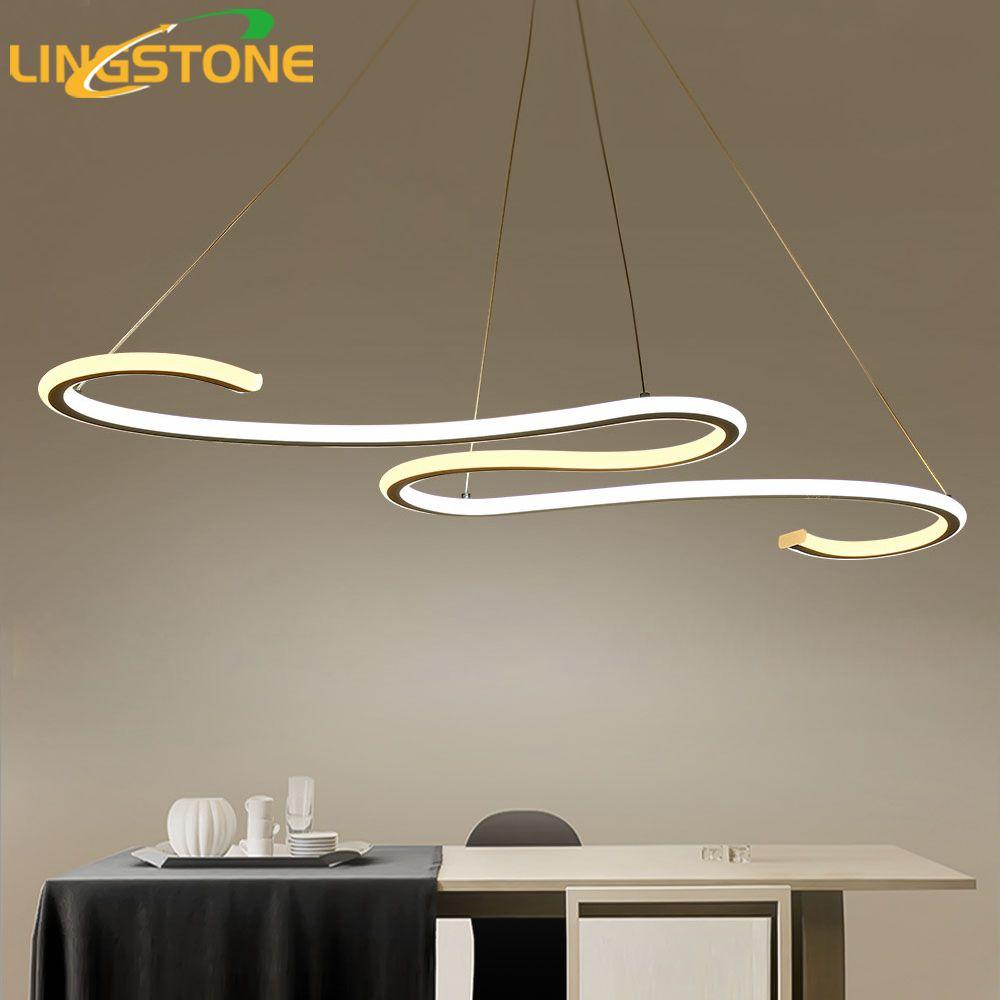 Moderne LED Anhänger Lichter Für Esszimmer Küche Fernbedienung Anhänger Lampen Leuchte Welle Form Hängen Wohnzimmer Küchen