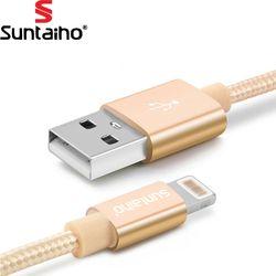 Suntaiho para iPhone 7 6 más 6 s 5 5S cargador USB Cable trenzado de nylon para el relámpago carga rápida sync teléfono móvil