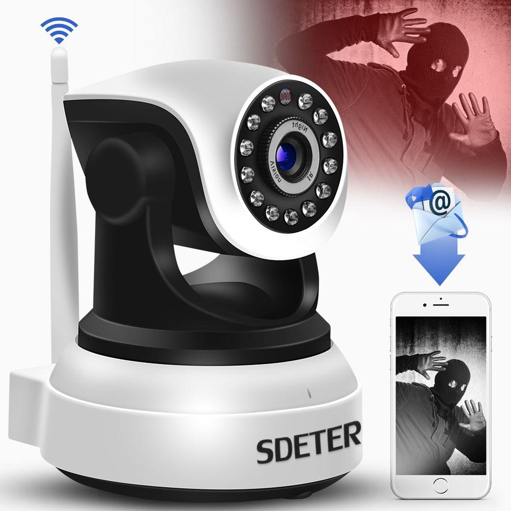 Caméra IP de sécurité sans fil SDETER WIFI Surveillance à domicile 720 P caméra de vidéosurveillance à Vision nocturne IP Onvif P2P moniteur bébé Webcam intérieure