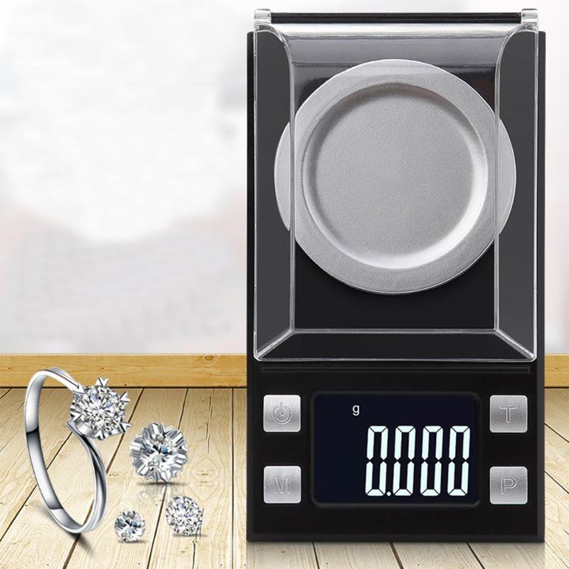 50g/0.001g 100g/0.001g LCD Digital Jewelry <font><b>Scales</b></font> High Precision Libra Medicinal Weight <font><b>Scale</b></font> Portable Mini Electronic Balance