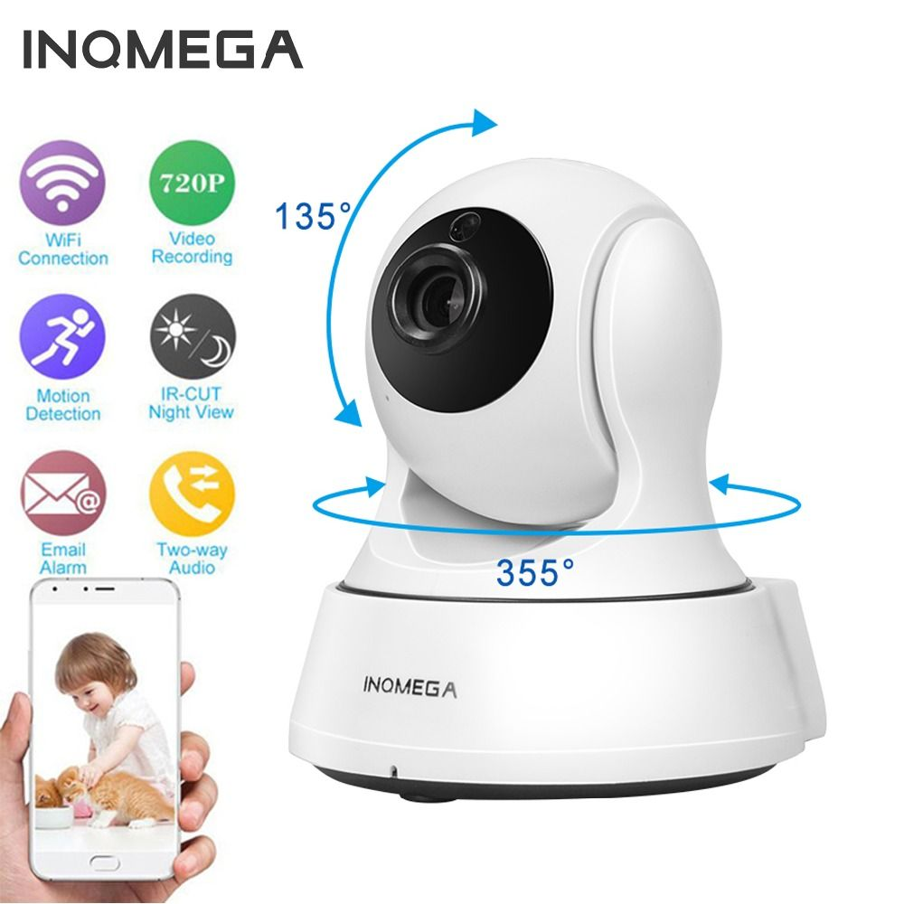 INQMEGA 720P IP Camera Wireless Wifi Cam Indoor Home Security Surveillance CCTV Network Camera Night Vision P2P Remote <font><b>View</b></font>