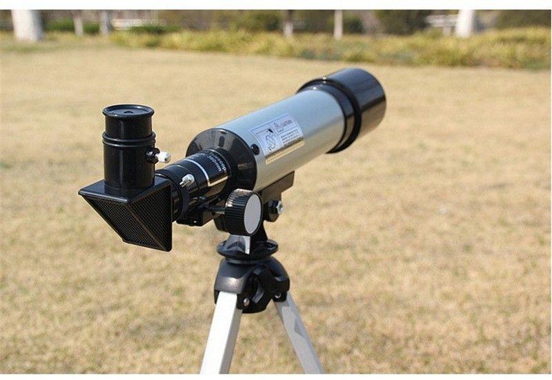 Extérieur Télescope Astronomique Réfractif avec Trépied Portable HD Monoculaire 360/50mm Télescope Cadeau de Nouvel An