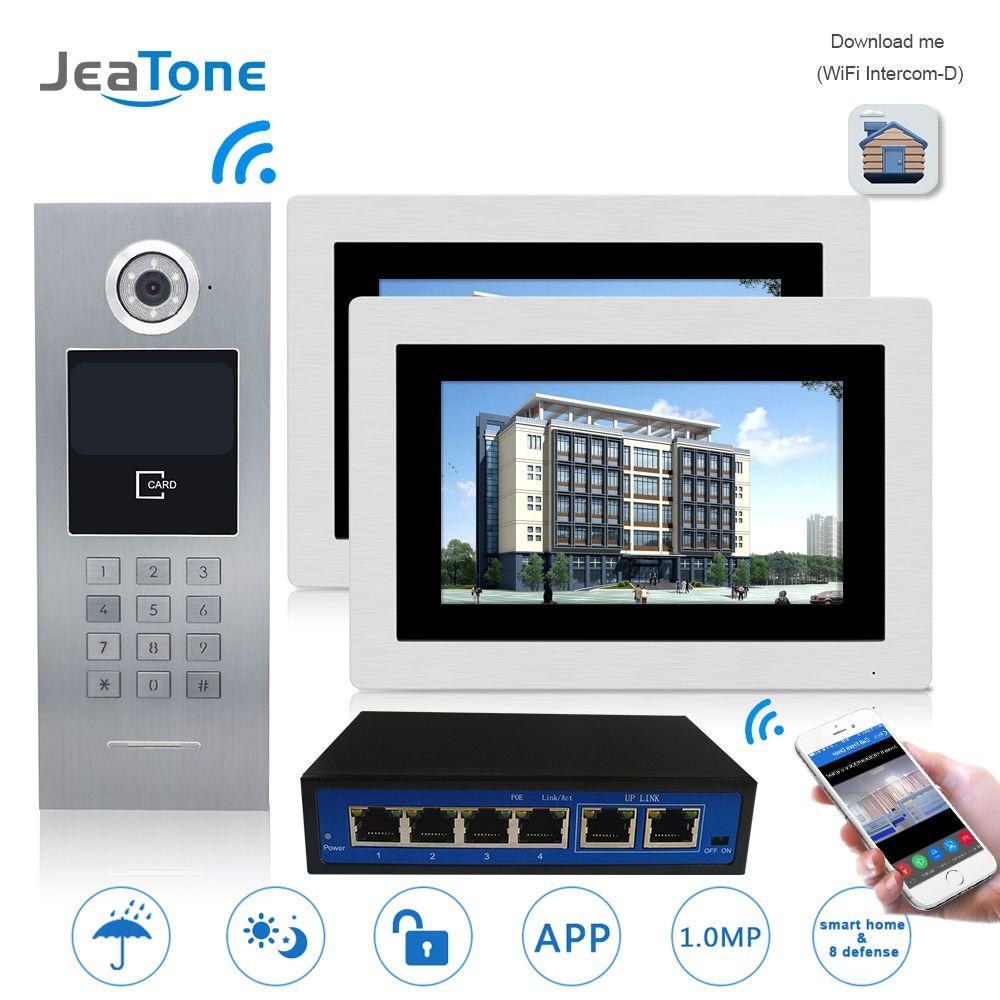 7 ''WIFI IP Video Tür Sprechanlage Tür Glocke Gebäude Security Access Control System Touchscreen Passwort/für 2 haushalte