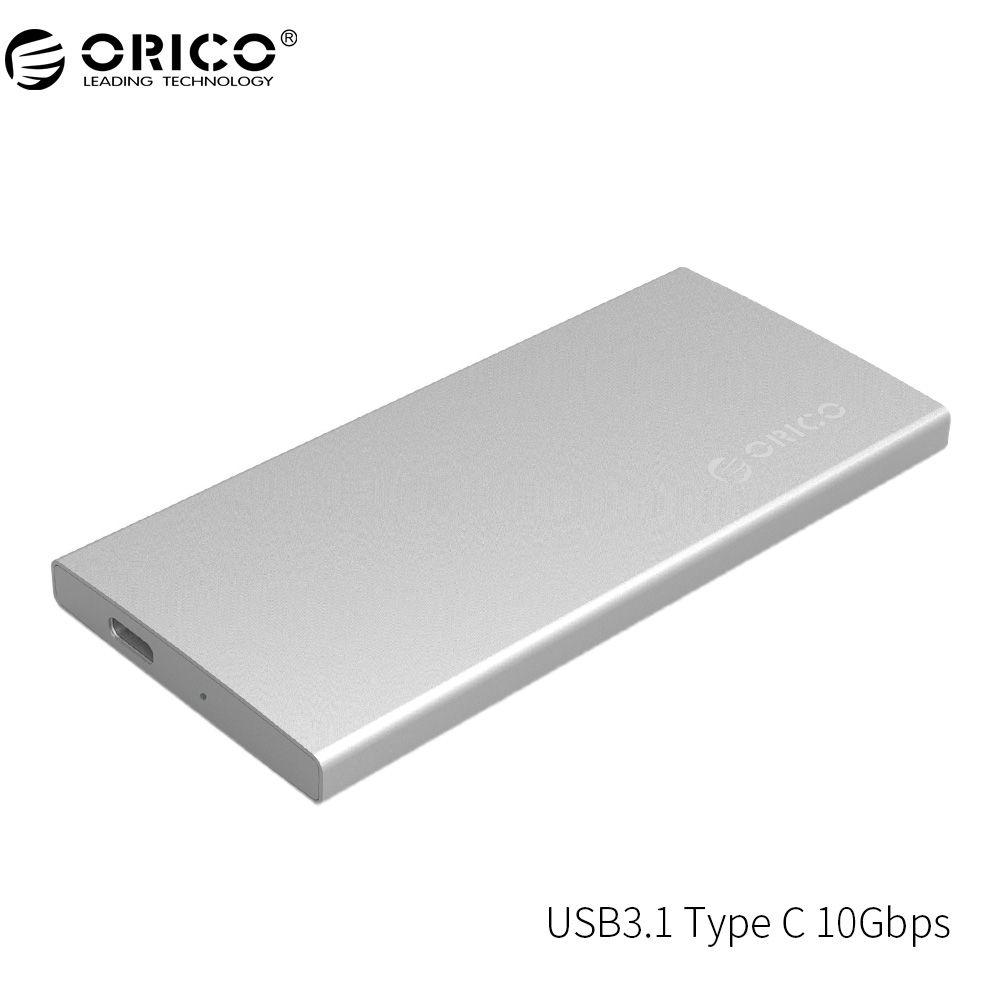 ORICO DM2-RC3 USB3.1 Typ C Externe Festplatte Enclosur Gen2 10 Gbps Aluminium Dual-bay Unterstützung RAID 0 PM Modus mit Typ C Kabel