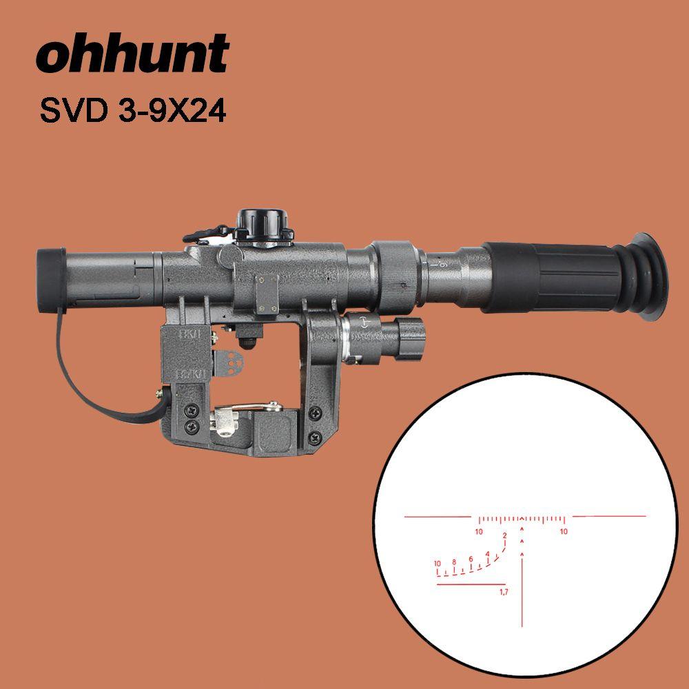 Ohhunt Dragunov SVD POS 3-9X24 Rot Beleuchtet Jagd Zielfernrohr Glas Absehen Tactical Optik Sehenswürdigkeiten Schießen AK Gewehr