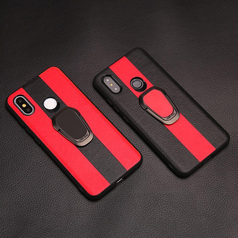 Voiture étui de téléphone pour xiaomi mi 9T 9 SE 8 A1 A2 Lite A3 mi x 2S Max 3 F1 TPU Support Rotatif Anneau Rouge mi Note 7 5 6 Pro 6A 7A