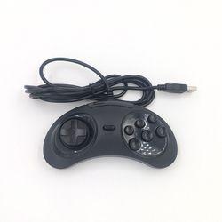 Best selling  SEGA Genesis USB Gamepad Game Controller 6 Buttons SEGA USB Gaming Joystick Holder for PC MAC Mega Drive Gamepads