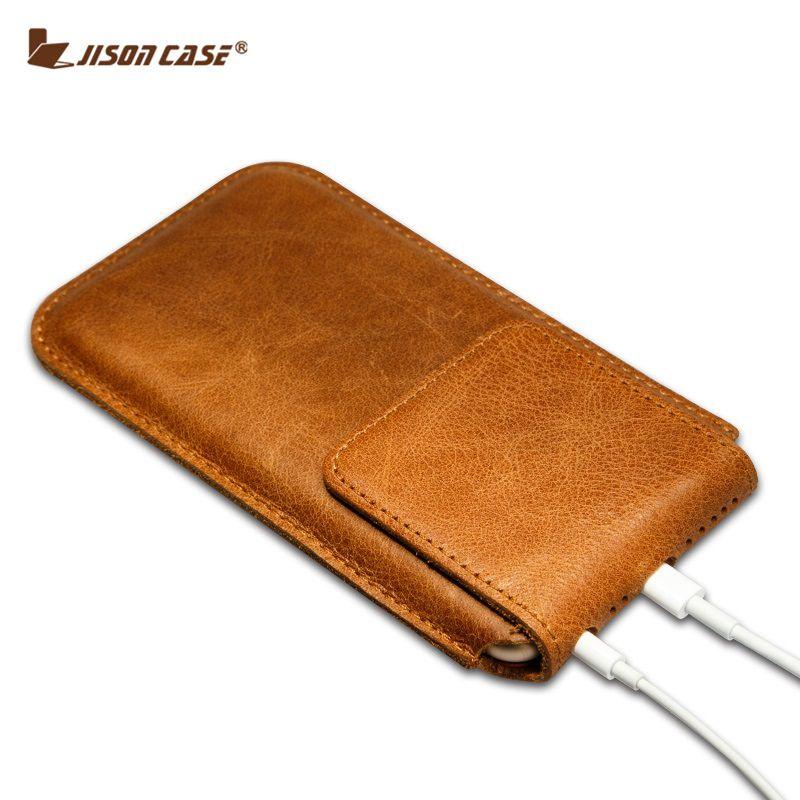 Jisoncase Пояса из натуральной кожи чехол для iPhone 6 S 6 4.7 рукавом сумка-чехол для iPhone 6 S Plus, 6 Plus 5.5 дюймов Магнитная Синтетическое закрытие волос че...