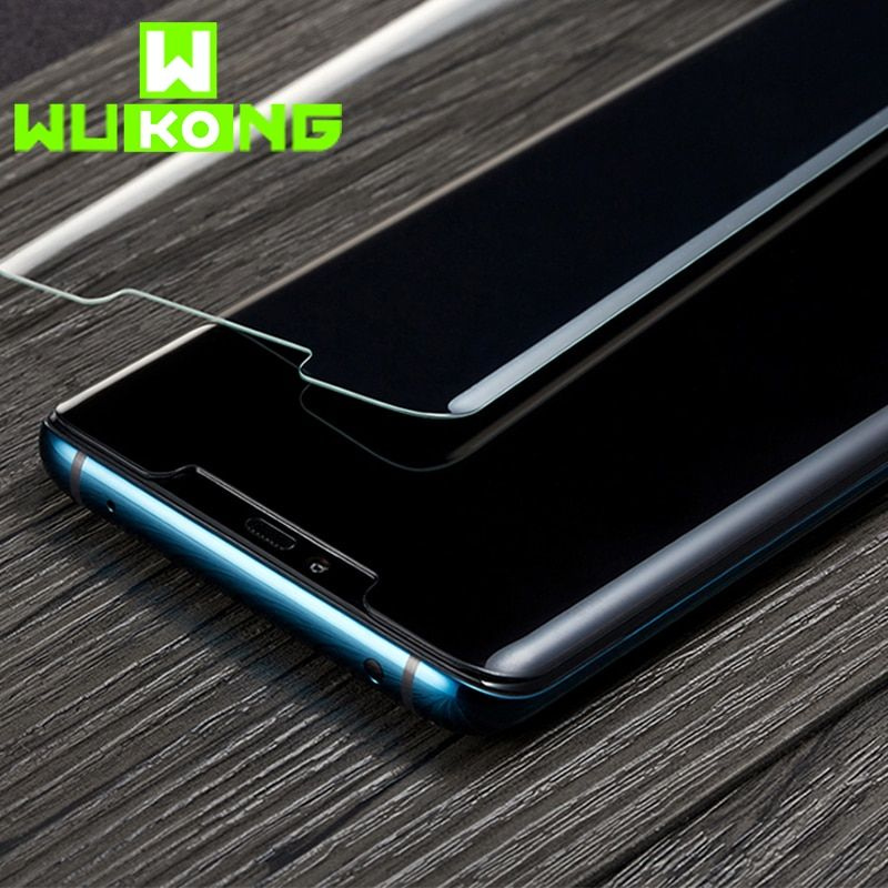 WK UV Liquid Full Glue Screen Protector For Samsung S10e S10 Plus Full Cover Tempered Glass for Huawei Mate 20 Pro P30 Pro Film