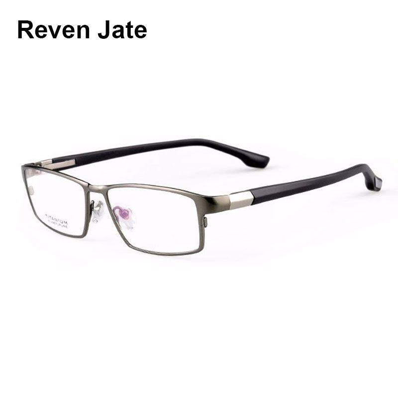Reven Jate Cool Hommes De Mode D'affaires Titane Jante et Flexible TR-90 Temple Jambes Lunettes Optiques Cadre pour Homme Réussi