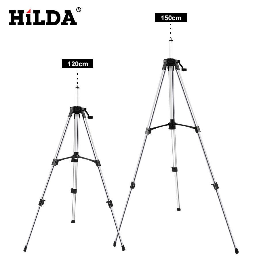 HILDA niveau Laser trépied hauteur réglable épaissir aluminium trépied support pour auto nivellement 1.2/1.5 m
