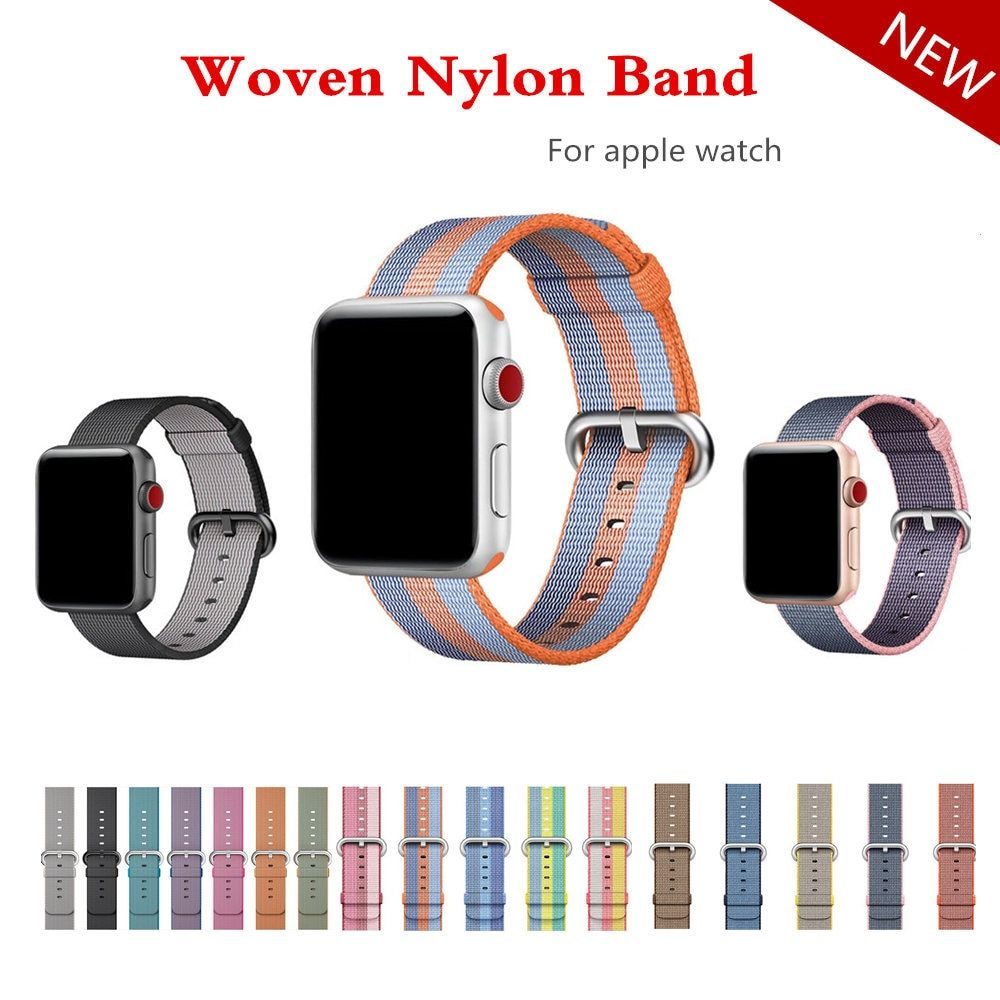 Woven Nylon strap band For Apple Watch 42mm 38mm bracelet belt fabric-like nylon watchband for iwatch 3/2/1/Edition Accessories