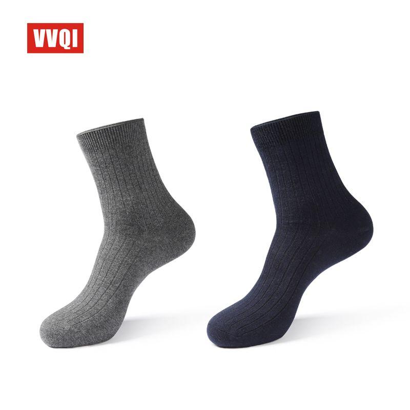 VVQI winter men's socks anti-odour Absorb sweat cotton black business socks 5pairs men's dress socks off white brand socks gift